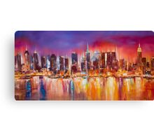 Vibrant New York City Skyline Canvas Print
