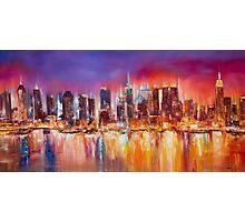 Vibrant New York City Skyline Photographic Print