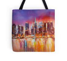 Vibrant New York City Skyline Tote Bag