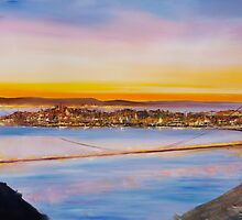 San Francisco Abstract Skyline by Mitchell Nick