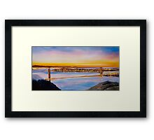 San Francisco Abstract Skyline Framed Print