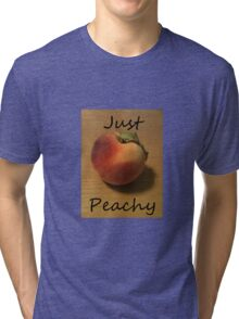 Just Peachy Peach Photo Tri-blend T-Shirt