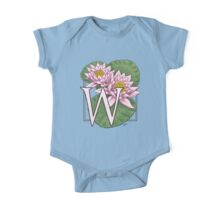 W is for Water Lily One Piece - Short Sleeve