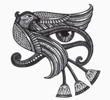 Eye of Horus (Tattoo Style Print) Kids Clothes
