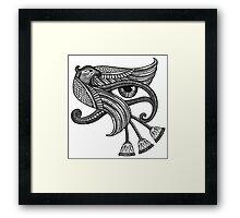 Eye of Horus (Tattoo Style Print) Framed Print