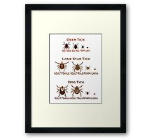 Tick Season Framed Print