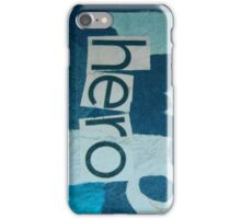 hero - blue collage. iPhone Case/Skin