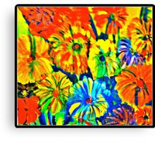 Saturated Flowers Canvas Print