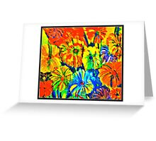 Saturated Flowers Greeting Card