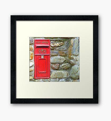 The Red Irish Post Box Framed Print