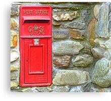 The Red Irish Post Box Canvas Print