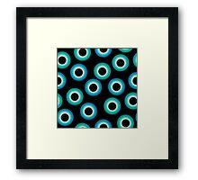 Eye ball pattern Framed Print