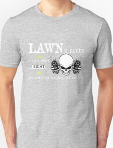 LAWN Rule #1 i am always right. #2 If i am ever wrong see rule #1 - T Shirt, Hoodie, Hoodies, Year, Birthday T-Shirt