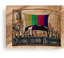 Old TV Canvas Print