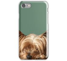 Sleeping Yorkie Dog iPhone Case/Skin
