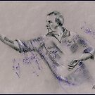 Phil Taylor - original sports drawing by Paulette Farrell