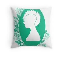 Vintage Punk Cameo Turquoise Throw Pillow