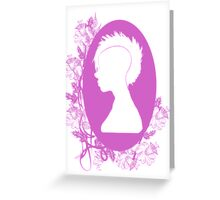 Vintage Punk Cameo Lavander Greeting Card