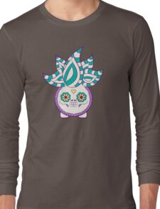 Oddish Pokemuerto | Pokemon & Day of The Dead Mashup Long Sleeve T-Shirt