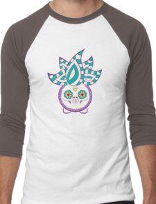 Oddish Pokemuerto   Pokemon & Day of The Dead Mashup Men's Baseball ¾ T-Shirt