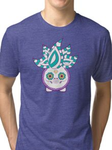Oddish Pokemuerto | Pokemon & Day of The Dead Mashup Tri-blend T-Shirt