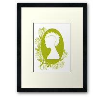 Vintage Punk Cameo Yellow Framed Print