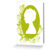Vintage Punk Cameo Yellow Greeting Card