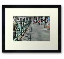 Circular Quay Railings Framed Print
