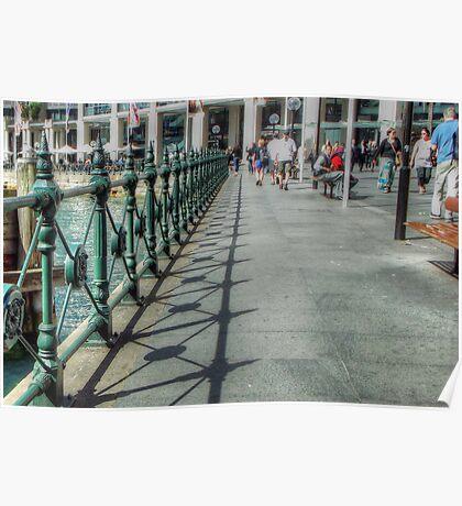 Circular Quay Railings Poster