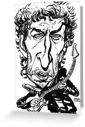 Bob Dylan Caricature by JohnnyGolden