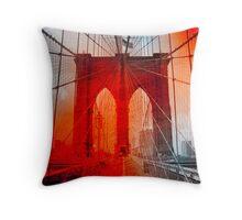 New York City - Brooklyn Bridge Throw Pillow