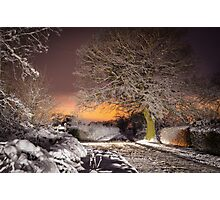 Night snow scene  Photographic Print