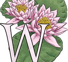 W is for Water Lily floating by Stephanie Smith