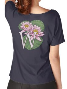 W is for Water Lily floating Women's Relaxed Fit T-Shirt