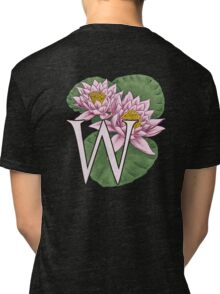 W is for Water Lily floating Tri-blend T-Shirt