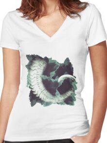 Horn Women's Fitted V-Neck T-Shirt