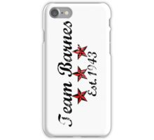 Team Barnes iPhone Case/Skin