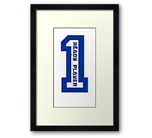 Ready Player One Number Blue Framed Print