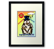 Decisions-Decisions-Groundhog Day Framed Print