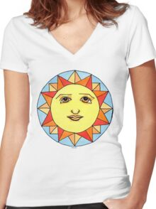 Solstice Sun Women's Fitted V-Neck T-Shirt