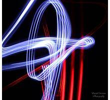 Light Streaks Photographic Print
