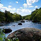 Contoocook River Henniker New Hampshire by Exponential Terrestrial Pedestrian©