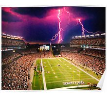Gillette Stadium home of the New England Patriots art Poster