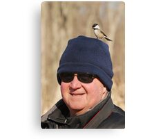 """Hey Honey ~ You Have A Chickadee On Your Head !"" Canvas Print"