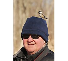 """""""Hey Honey ~ You Have A Chickadee On Your Head !"""" Photographic Print"""