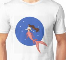 Sunset Colored Mermaid Unisex T-Shirt