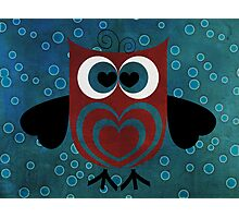 HOO Loves You Photographic Print