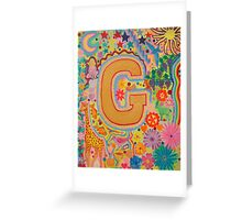 Initial G Greeting Card