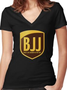 BJJ Women's Fitted V-Neck T-Shirt