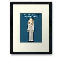 "Nicky Nichols: ""Shit Cake"" Framed Print"
